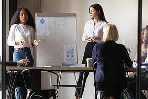 Sales performance training in progress