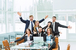 a group of satisfied employees which is a benefit of sales training as a team